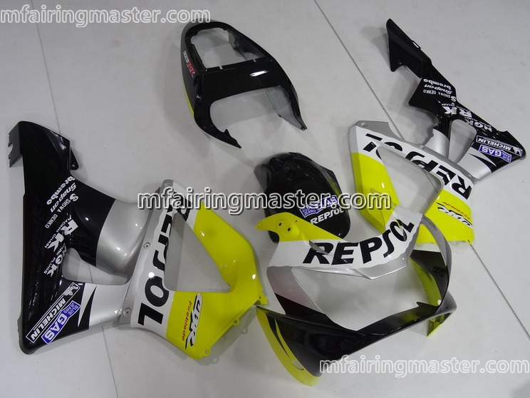 Honda CBR900RR 954 2002 2003 Fairing Kit Injection Molding Repsol Yellow Silver