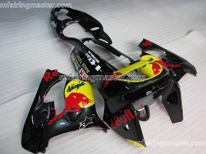 Kawasaki Ninja ZX 9R 1998 1999 Fairing Kit Black Red Bull